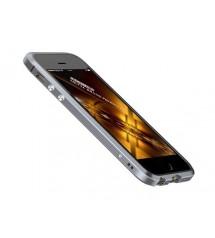 Алюминиевый прямоугольный бампер Luphie для Iphone5 кожаная накладка