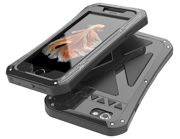 Алюминиевый водозащитный чехол R-just X-men Iphone7