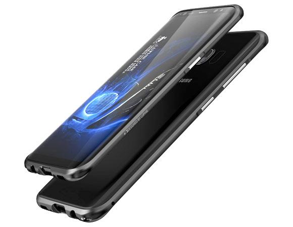 Алюминиевый бампер Luphie Samsung S8 соединение на шурупах